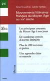 MOUVEMENTS LITTERAIRES FRANCAIS DU MOYEN AGE AU XIXE SIECLE
